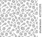 vector doodle bacteria germs or ... | Shutterstock .eps vector #627221201