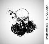 Skull With Respirator  Gas Mask ...
