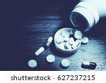 drug prescription for treatment ... | Shutterstock . vector #627237215