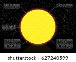 vector solar system space... | Shutterstock .eps vector #627240599