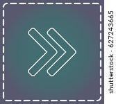 line icon  arrow | Shutterstock .eps vector #627243665