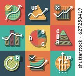 set of colorful infographics... | Shutterstock .eps vector #627258419