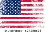 grunge usa flag.vector american ... | Shutterstock .eps vector #627258635