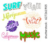 californian internet slang...   Shutterstock . vector #627261905