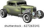 hot rod fully editable | Shutterstock .eps vector #627263141