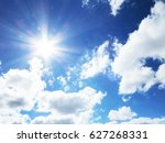 blue sky with clouds   Shutterstock . vector #627268331