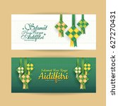 set of hari raya aidilfitri... | Shutterstock .eps vector #627270431