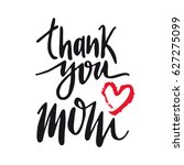 message thank you mom. happy... | Shutterstock .eps vector #627275099