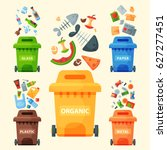 recycling garbage elements... | Shutterstock .eps vector #627277451