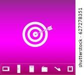 target arrow icon vector. flat... | Shutterstock .eps vector #627278351