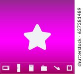 star icon vector. flat simple... | Shutterstock .eps vector #627281489