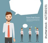 business man thinking character.... | Shutterstock .eps vector #627283151