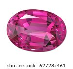 isolated jewel on white... | Shutterstock . vector #627285461
