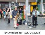 auckland   december 1st  street ... | Shutterstock . vector #627292235