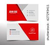 modern business card simple ...   Shutterstock .eps vector #627293411