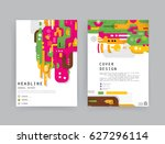 cards in modern abstract style...   Shutterstock .eps vector #627296114