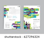 cards in modern abstract style...   Shutterstock .eps vector #627296324