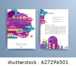 cards in modern abstract style... | Shutterstock .eps vector #627296501
