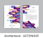 cards in modern abstract style... | Shutterstock .eps vector #627296525