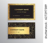 luxury business card. gold and... | Shutterstock .eps vector #627297389