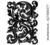 vintage baroque ornament ... | Shutterstock .eps vector #627300377