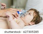baby inhalation | Shutterstock . vector #627305285