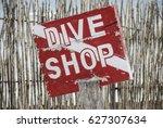 dive shop | Shutterstock . vector #627307634