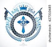 heraldic coat of arms... | Shutterstock . vector #627310685