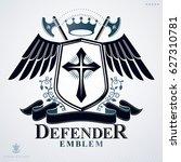 heraldic coat of arms... | Shutterstock . vector #627310781