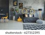 functional bedroom interior... | Shutterstock . vector #627312395
