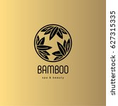 bamboo spa salon logo. spa... | Shutterstock .eps vector #627315335