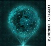 network and data exchange over...   Shutterstock .eps vector #627316865
