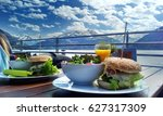 great cheesburgers with bacon... | Shutterstock . vector #627317309