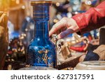 shopping in sunday flea market. ... | Shutterstock . vector #627317591