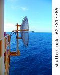 Small photo of Dish receiver of scada wave used on oil and gas wellhead platform