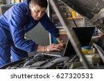 a male mechanic running...   Shutterstock . vector #627320531