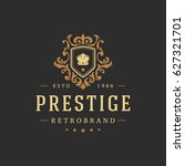 luxury logo template vector...   Shutterstock .eps vector #627321701