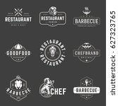 restaurant logos templates... | Shutterstock .eps vector #627323765