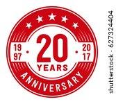 20 years anniversary logo... | Shutterstock .eps vector #627324404