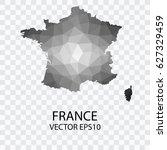 transparent   vector map of... | Shutterstock .eps vector #627329459
