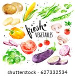 hand drawn watercolor colorful... | Shutterstock . vector #627332534