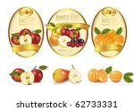 gold labels with different... | Shutterstock .eps vector #62733331