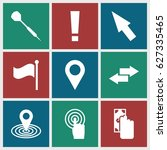 point icons set. set of 9 point ... | Shutterstock .eps vector #627335465