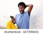 portrait of expressive man... | Shutterstock . vector #627340631