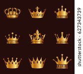 collection of crown silhouette. ...
