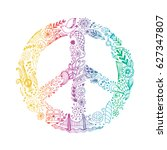 vector peace symbol made of... | Shutterstock .eps vector #627347807