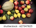 healthy seasonal fruit for your ... | Shutterstock . vector #627347825