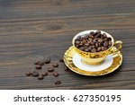 Coffee Beans In The Golden...