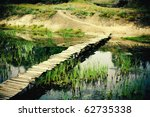 Narrow Old Wooden Bridge