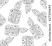 seamless vector hand drawn... | Shutterstock .eps vector #627354695